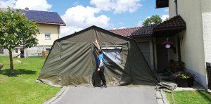 Das neue Zelt - Mit 3. Jugendwart als Vergleich