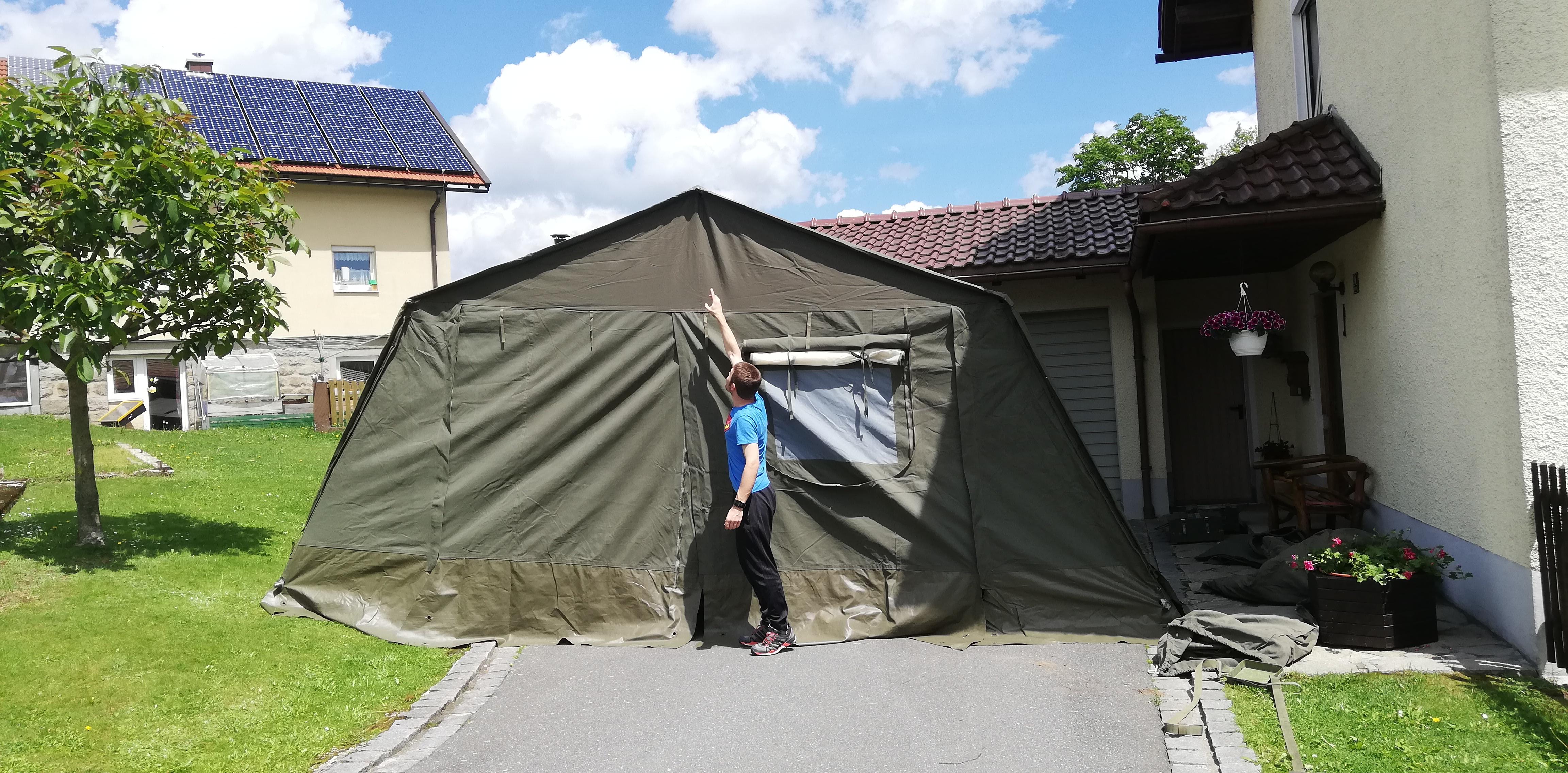 Das neue Zelt – Mit 3. Jugendwart als Vergleich