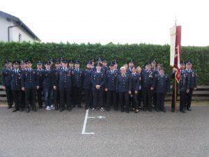 Gruppenbild aller Uniformträger