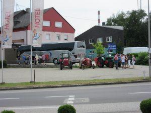 Abreise vom Hotel in Lenzing