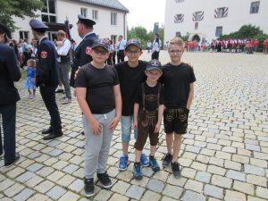 Volksfestaufzug 2018 - Die Kinderfeuerwehr war auch dabei