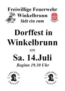 Dorffest - Winkelbrunn