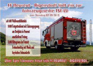 Fahrzeugweihe TSF-W | Feuerwehr Neureut - Aigenstadl