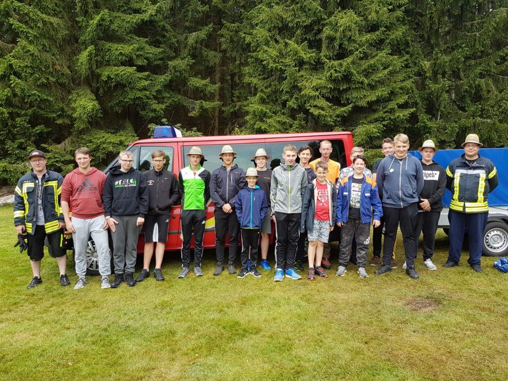 Zeltlager 2018 - Gruppenbild bei Abreise