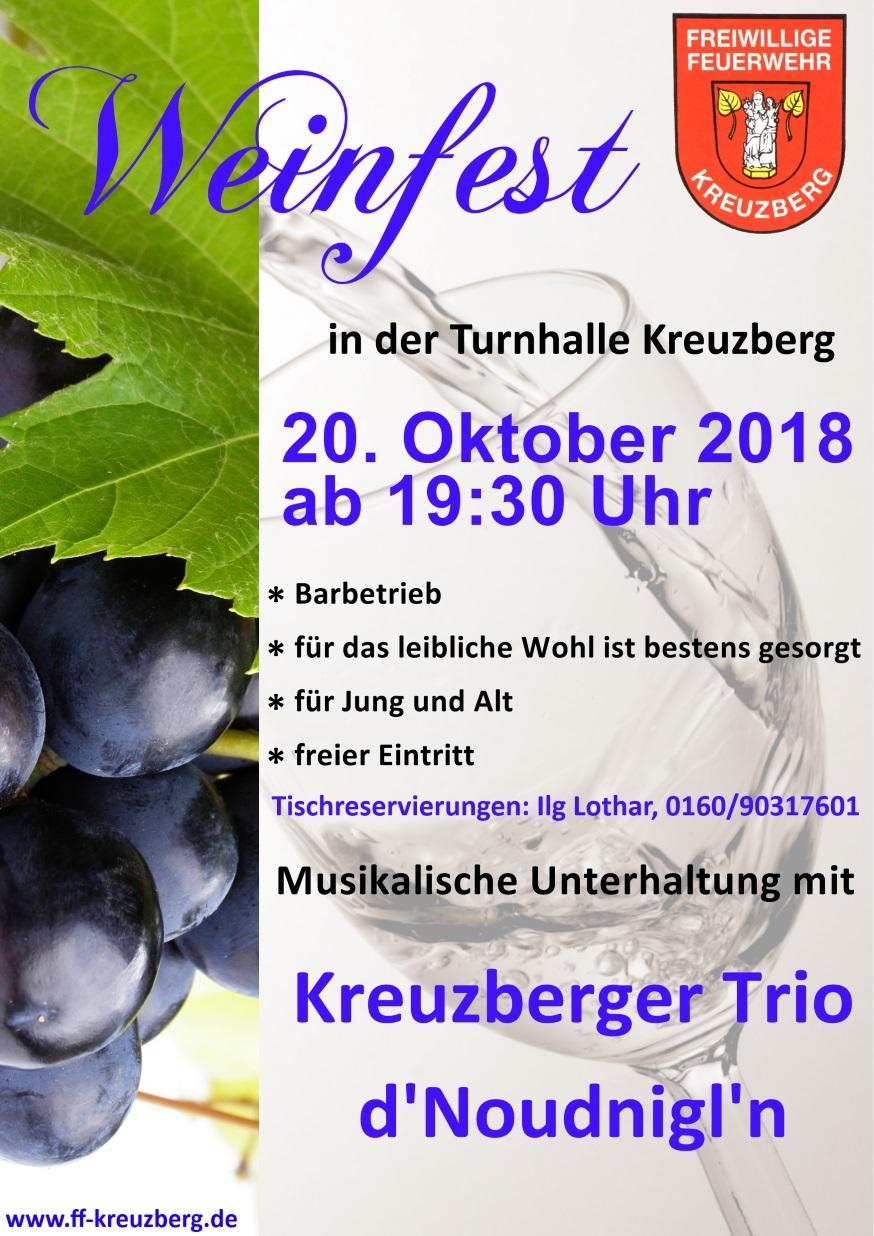 Weinfest Flyer
