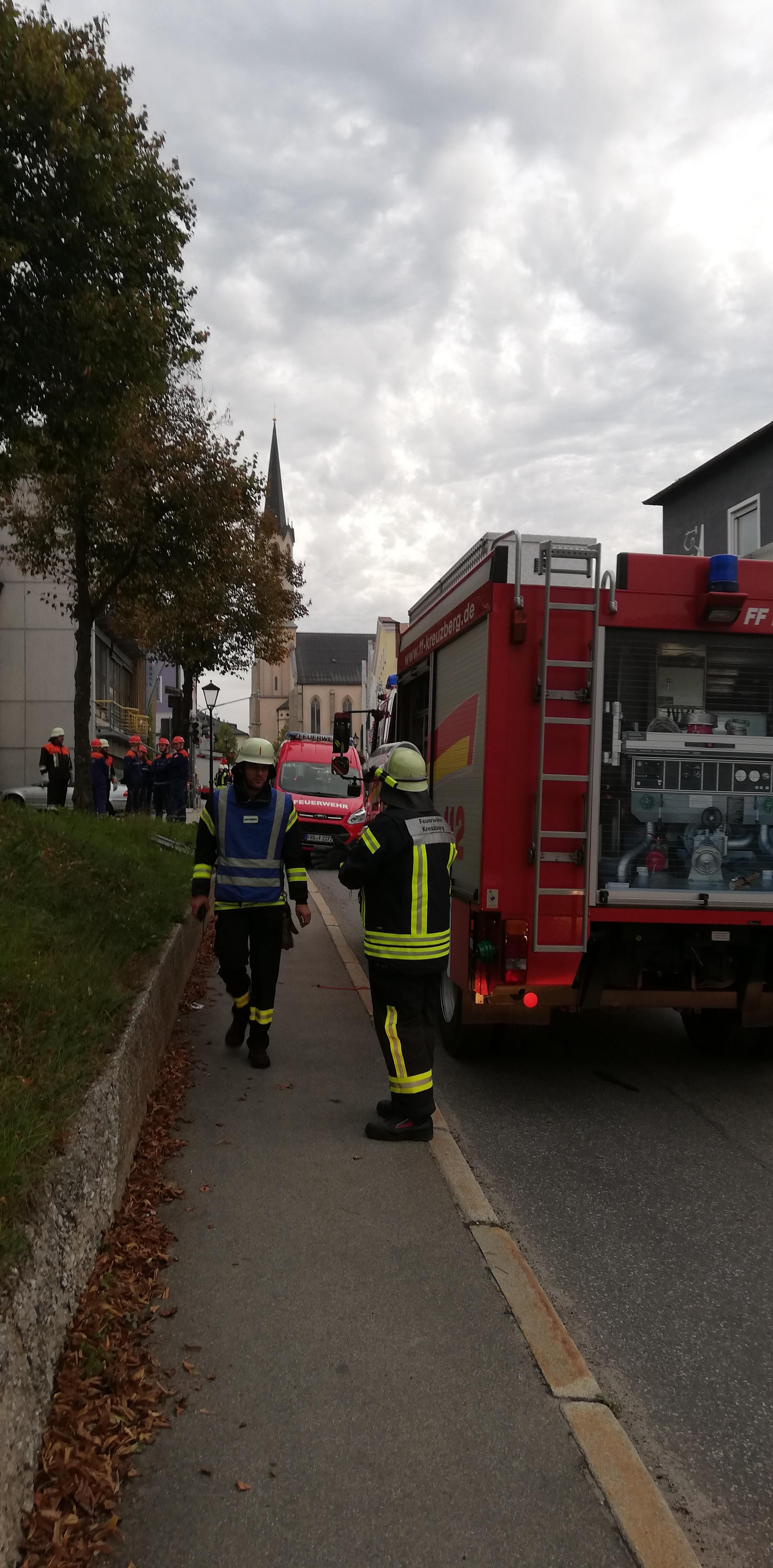 Brandschutzwoche 2018 - Beginn der Übung