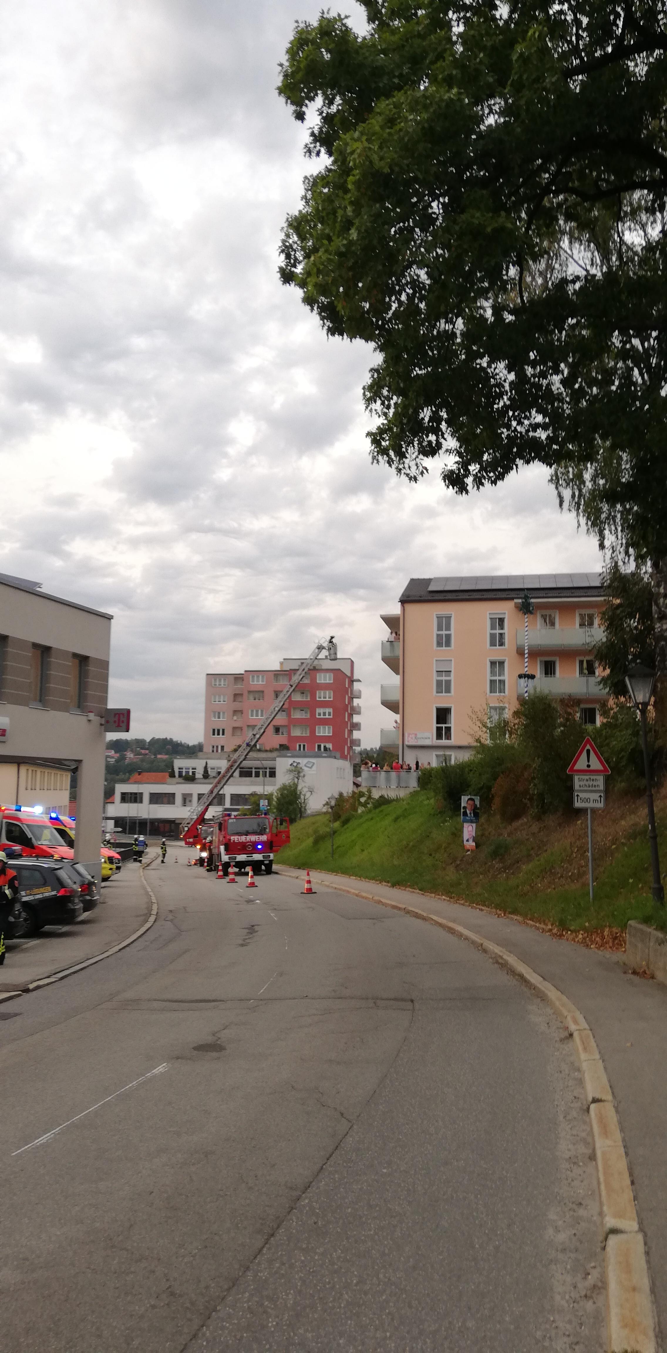 Brandschutzwoche 2018 - Einsatz der Drehleiter
