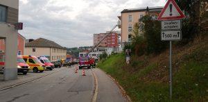 Brandschutzwoche 2018 - Übung zusammen mit dem Rettungsdienst (BRK und Stadler)