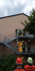 Brandschutzwoche 2018 - Fluchttreppe