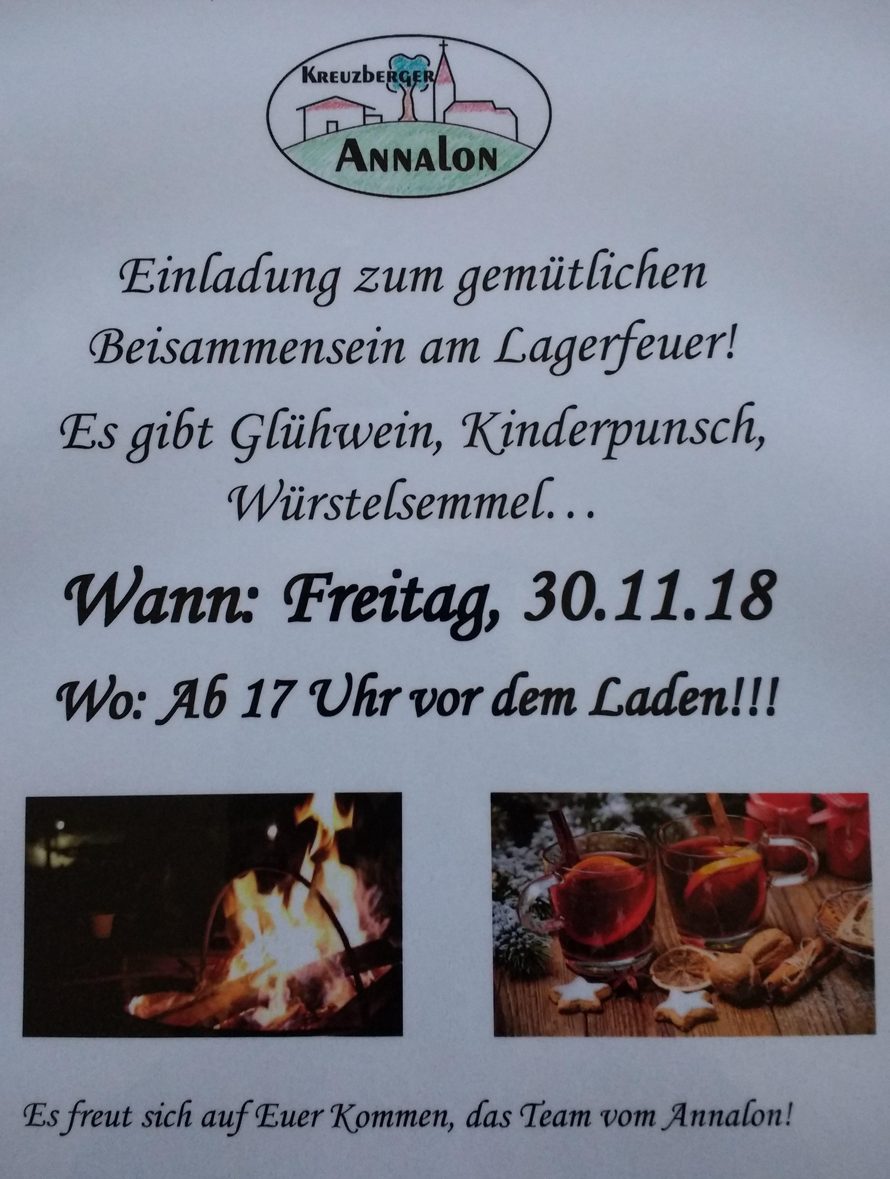 Lagerfeuer am Kreuzberger Annalon