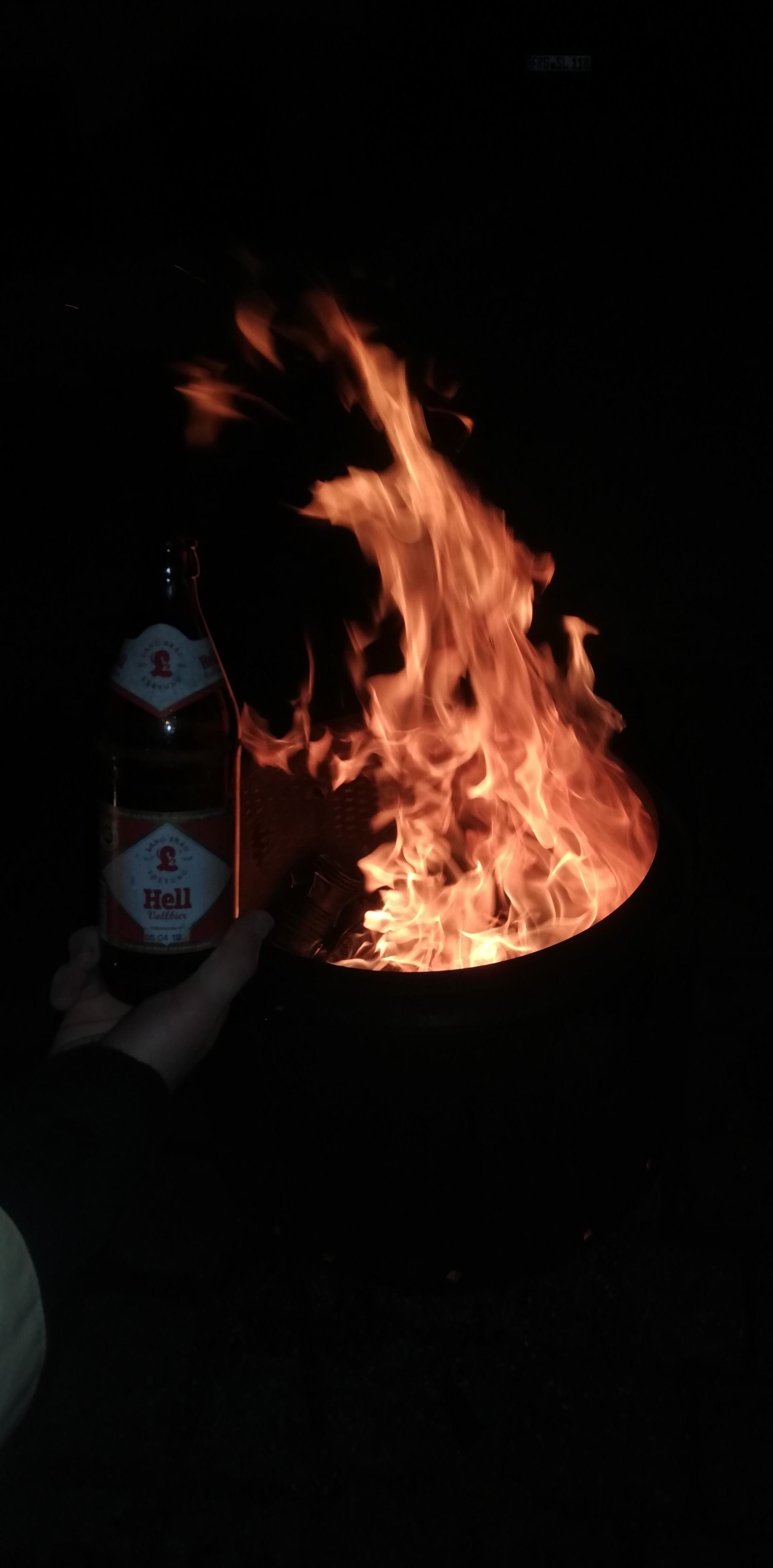 Weihnachtskonzert - Lagerfeuer mit gutem Langbräu Bier!