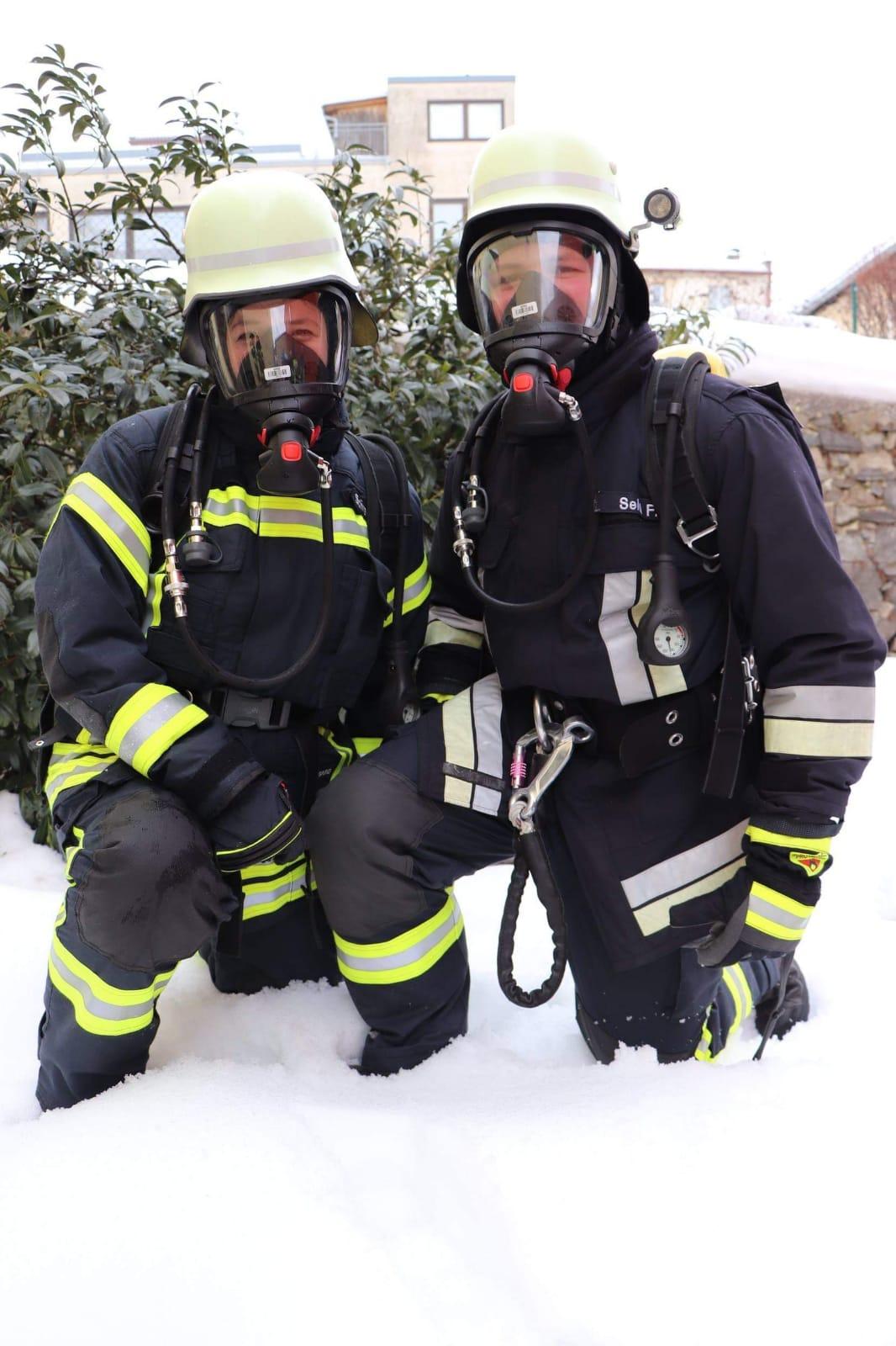 Zwei neue Atemschutzgeräteträger