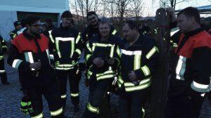 Alarmübung Kapellenhof - Gruppenbild nach der Übung