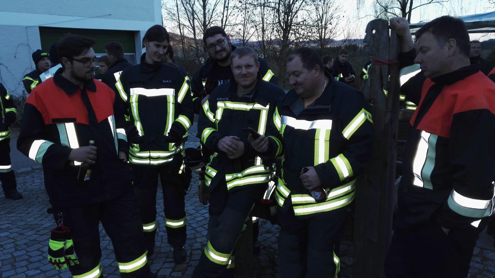 Alarmübung Kapellenhof – Gruppenbild nach der Übung