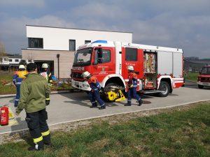 THL Leistungsabzeichen Steindorf - Rettungstrupp mit Hydraulikaggregat