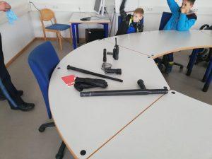 Kinderfeuerwehr - Ausrüstung der Polizei