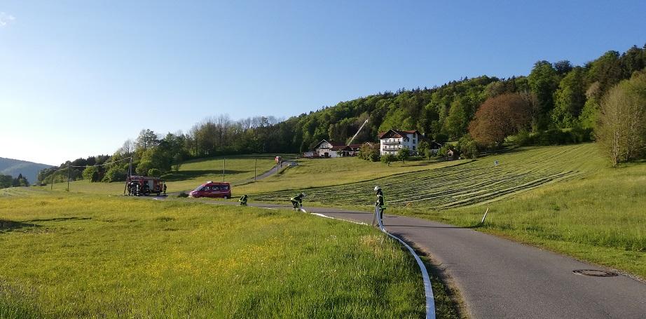 Gemeinschaftsübung Neureut - Schlauchstrecke