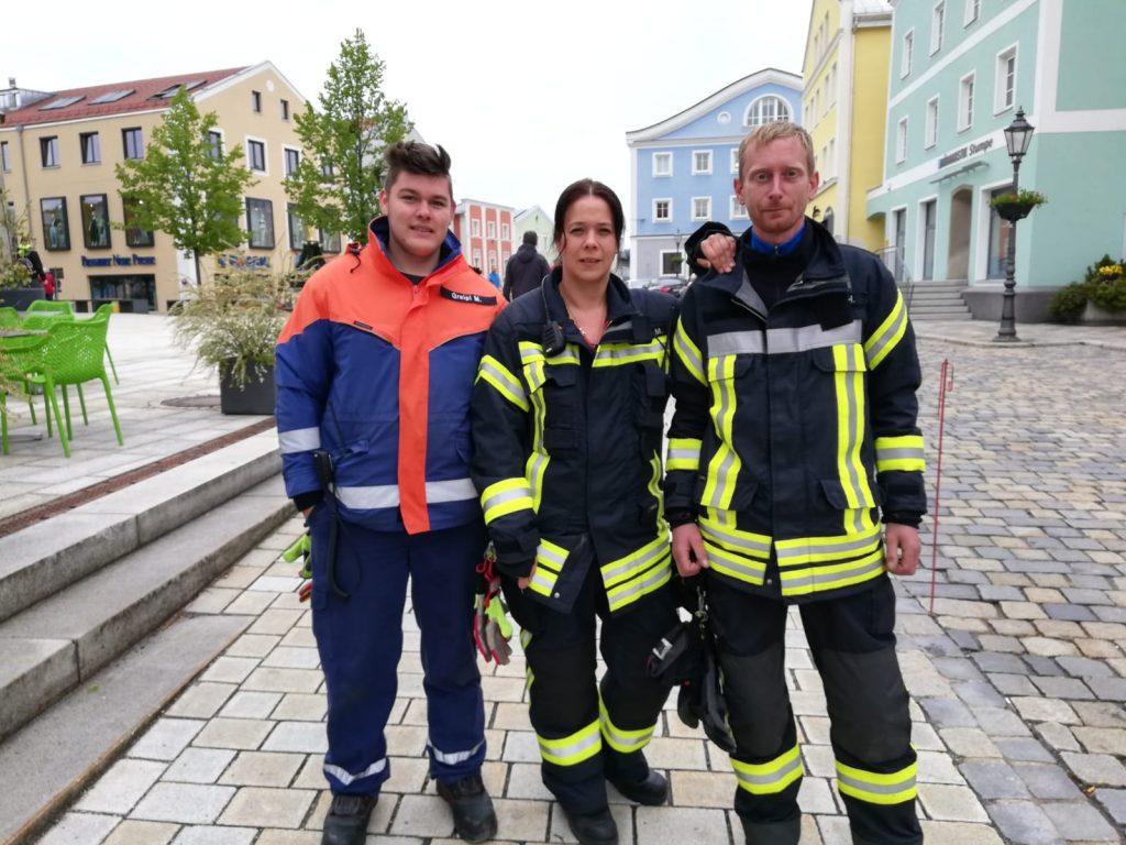 Stadtlauf 2019 - Maxe, Melanie und Hannes