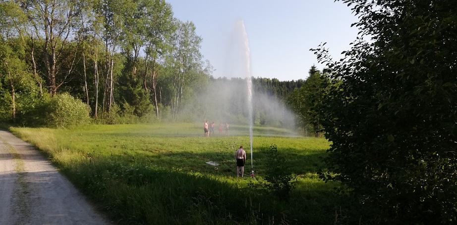 Hitzebekämpfung 2019 - Wasserwerfer und Hydroschild im Einsatz