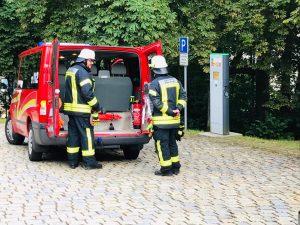 Übung - Schloss Wolfstein: Florian Kreuzberg 14/1 im Einsatz als FU