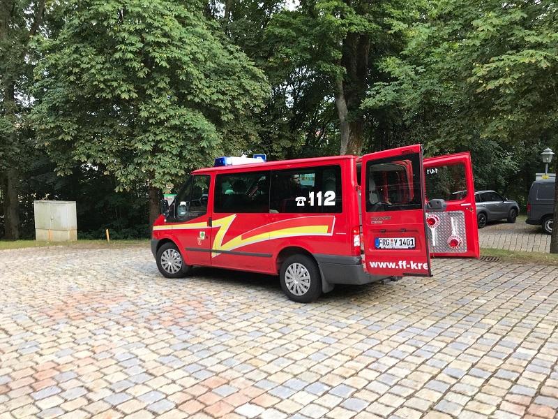 Übung – Schloss Wolfstein: Florian Kreuzberg 14/1 im Einsatz als FU