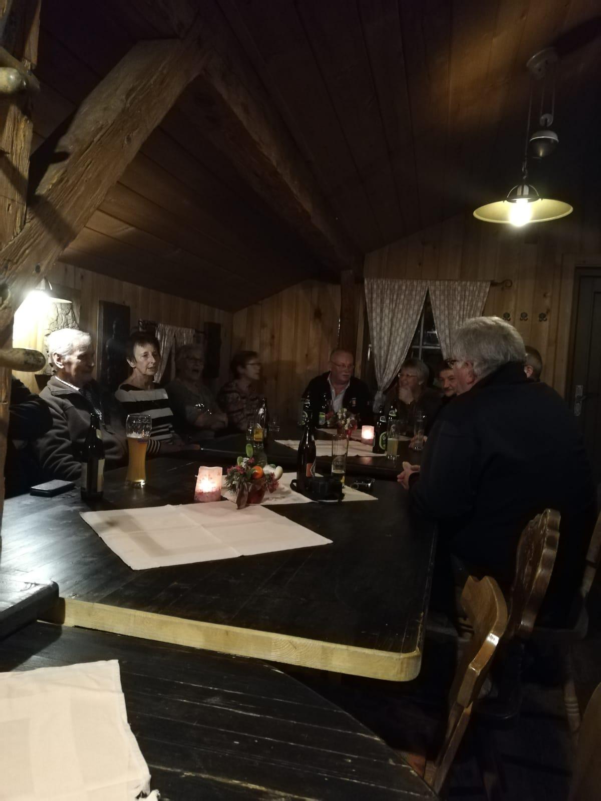 Vereinsausflug 2019 – Gemütlicher Hüttenabend