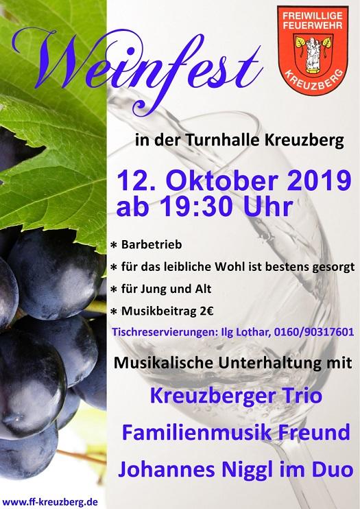 Weinfest – Flyer
