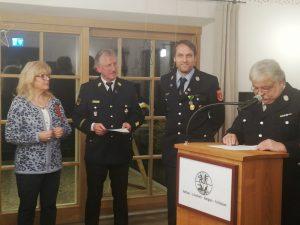 Feuerwehr Ehrenzeichen - Ehrung Lothar Ilg