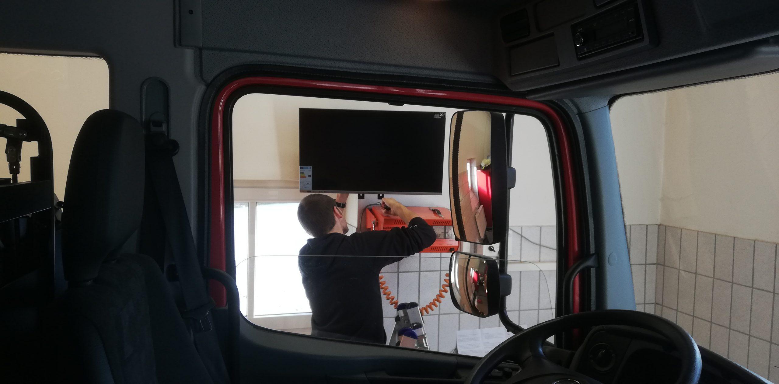 Einsatzmonitor installiert
