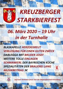 Bayernfanclub Kreuzberg - Kreuzberger Starkbierfest 2020