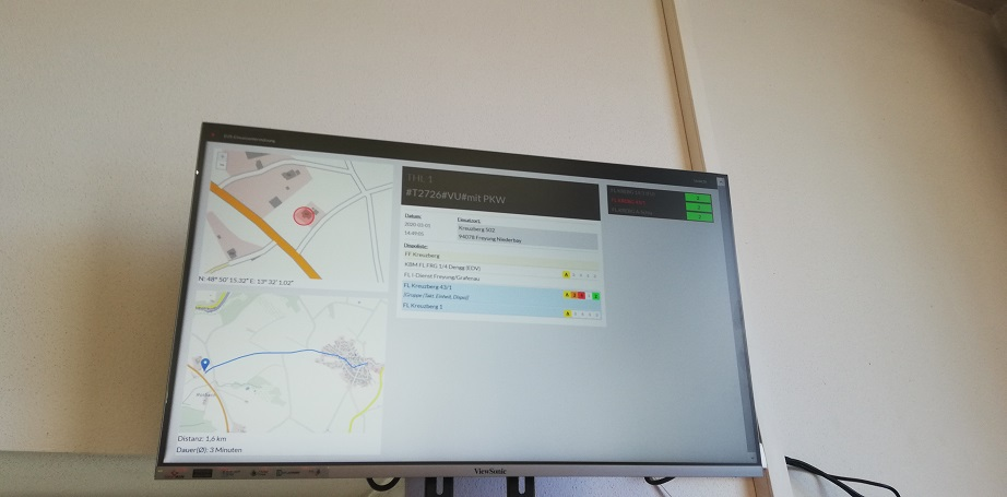 Verkehrsunfall Rotbach 01.03.2020 - Einsatzmonitor nachdem wir vom Einsatz zurück waren