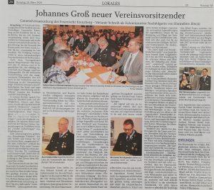 Pressebericht Generalversammlung 2020 - Quelle PNP: 10.03.2020