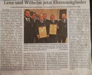 Pressebericht - Ehrenmitglieder - PNP: 18.03.2020