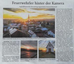 Pressebericht - Fotowettbewerb Jugendfeuerwehr (Quelle: PNP 05.05.2020)
