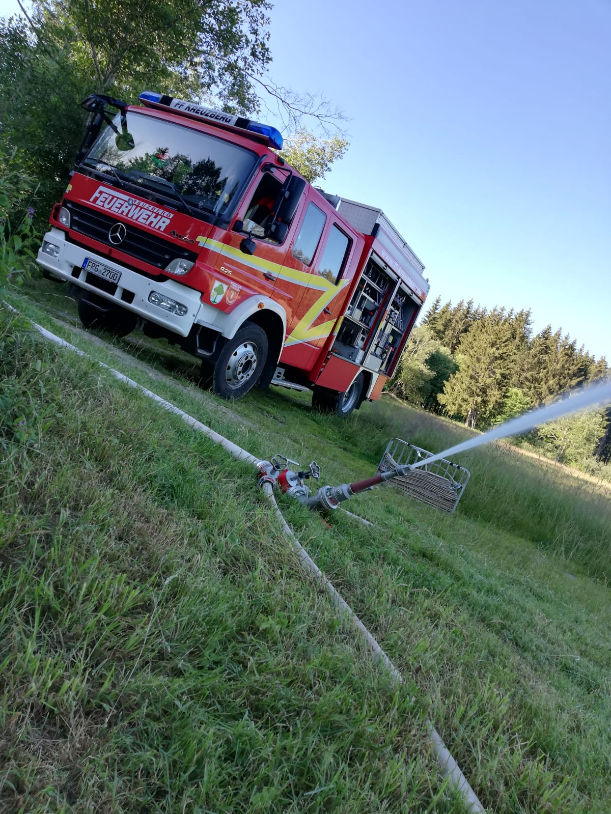 Jugendübung – Improvisierter Wasserwerfer – Unser LF10