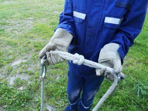 Jugendübung - Knoten und Stiche - Kreuzknoten