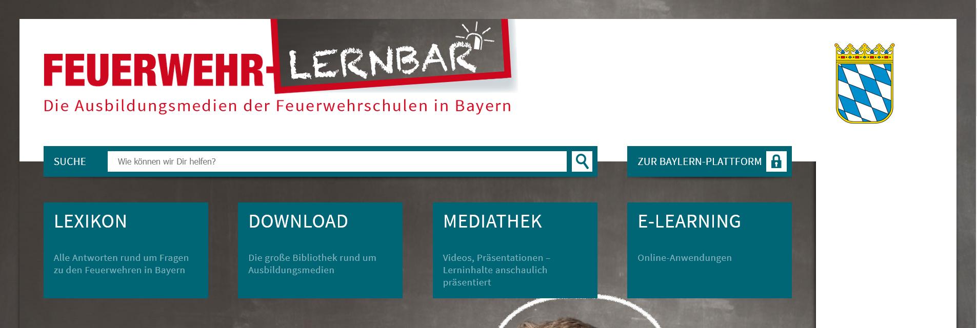 Screenshot – Infoseite Feuerwehr-Lernbar