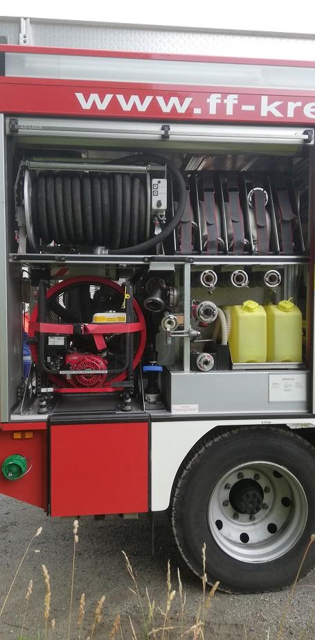 Unser LF10 – Geräteraum Wasserabgabe