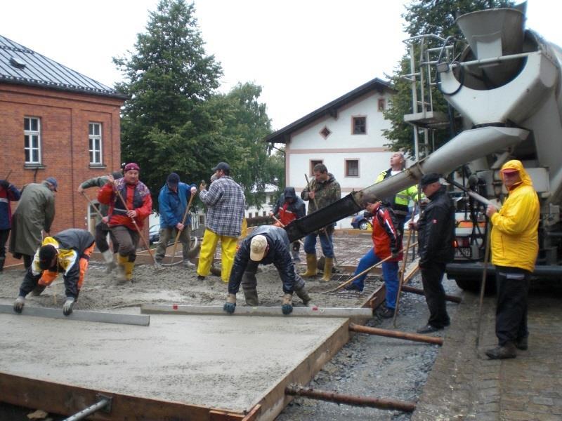 Bau MTW Garage 2013 – Bodenplatte