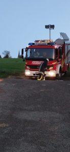 Hautübung - Traktorunfall - Aufbau Beleuchtung