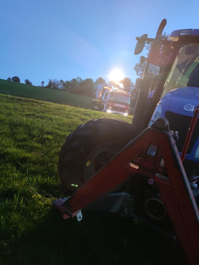 Hautübung - Traktorunfall - Einsatzstelle
