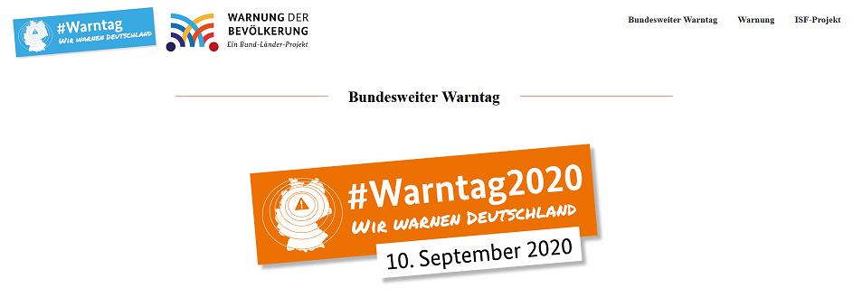 Info: Bundesweiter Warntag 2020