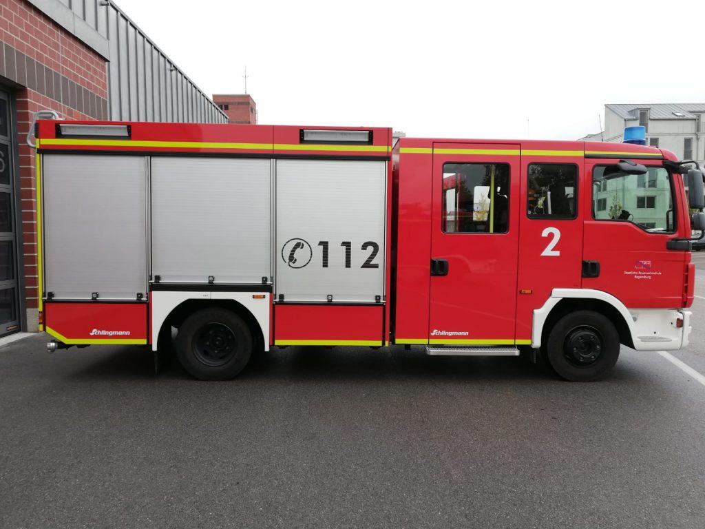 Neuer Gruppenführer - Feuerwehrhschule Regensburg - Übungsfahrzeug