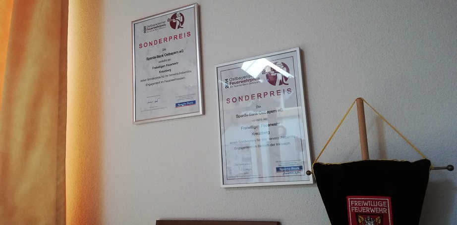 FF Kreuzberg - Sonderpreise 2014 und 2020 -Ostbayerischer Feuerwehrpreis