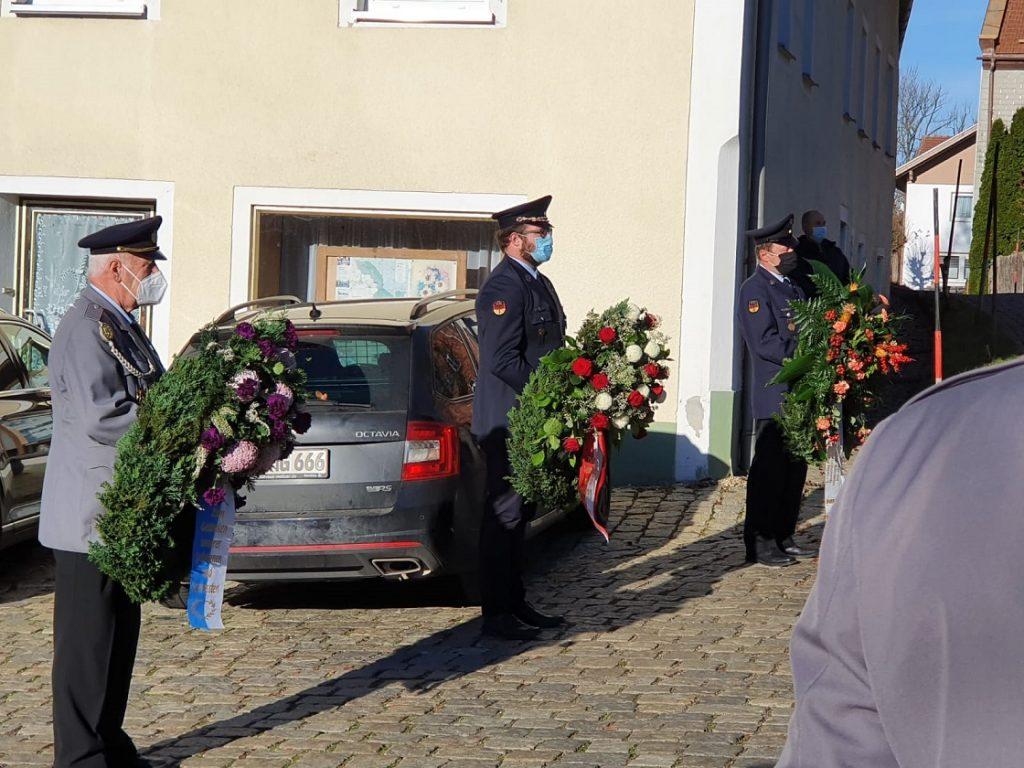 Freiwillige Feuerwehr Kreuzberg - Volkstrauertag - Vorstände