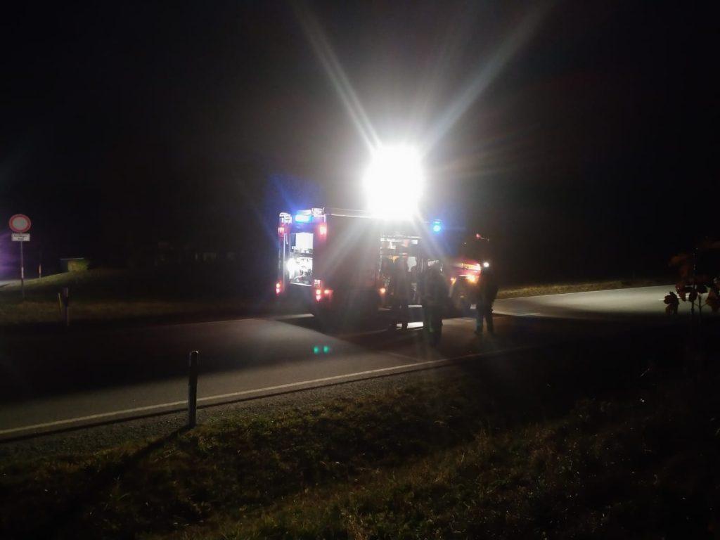 Verkehrsunfall 31.10.2020 - Ausleuchten der Einsatzstelle