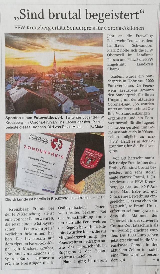 Pressebericht – Sonderpreis