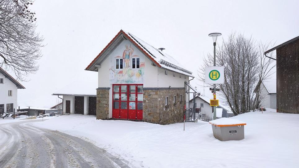 FF Kreuzberg - Gerätehaus im Januar 2021