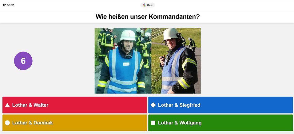 FF Kreuzberg - Kahoot - Kommandanten