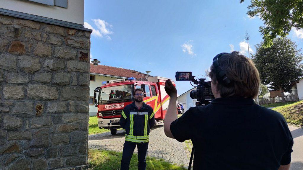 FF Kreuzberg - Unser Vorstand vor der Kamera